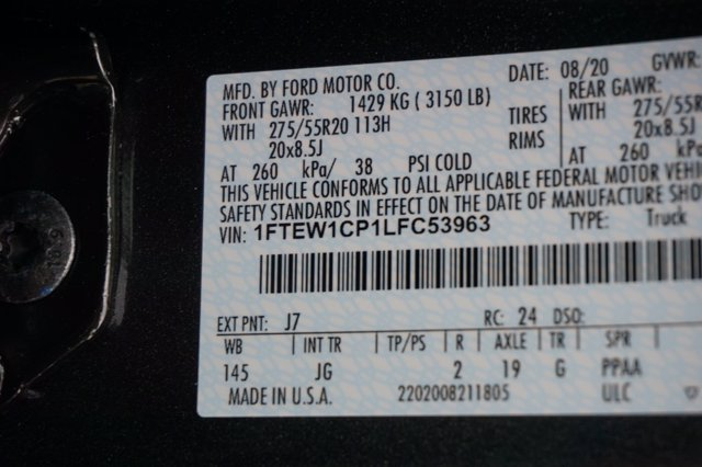 2020 Ford F-150 SuperCrew Cab RWD, Pickup #L5035 - photo 22