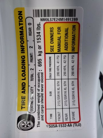 2021 Ford Transit Connect FWD, Empty Cargo Van #M0132 - photo 27