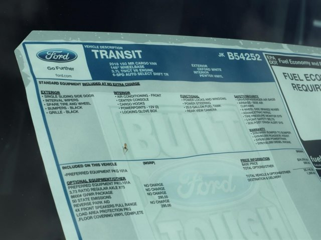 2018 Transit 150 Med Roof 4x2,  Empty Cargo Van #8E2C4252 - photo 15