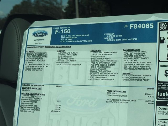 2018 F-150 Regular Cab 4x2,  Pickup #8F1C4065 - photo 14