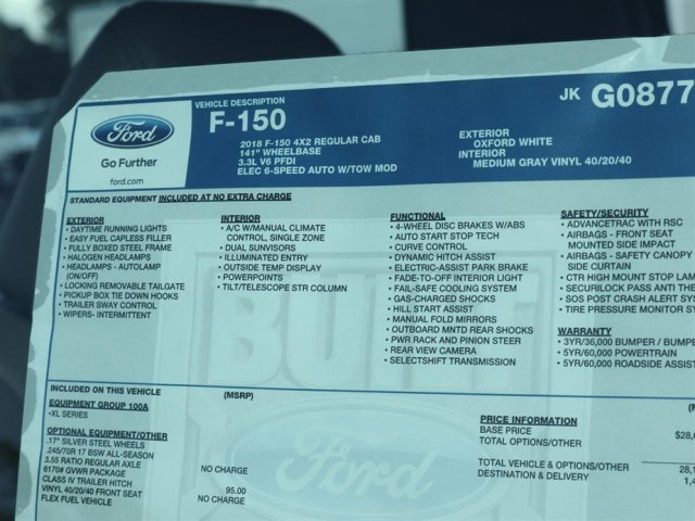 2018 F-150 Regular Cab 4x2,  Pickup #8F1C8777 - photo 14