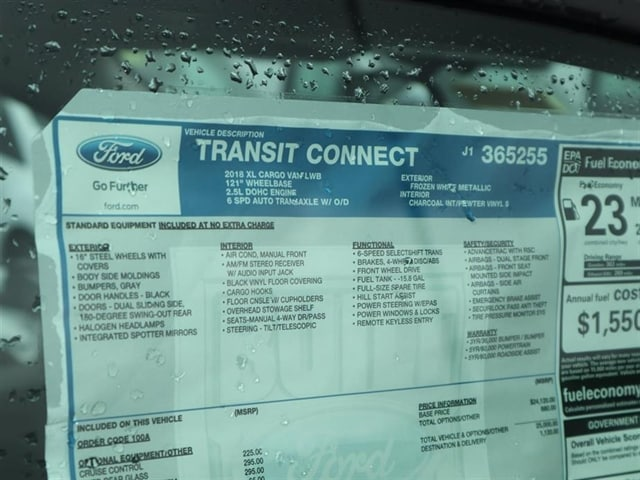 2018 Transit Connect 4x2,  Empty Cargo Van #8S7E5255 - photo 15