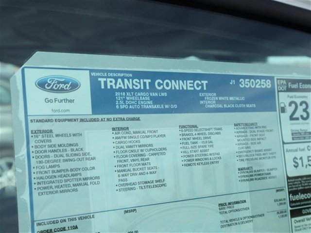 2018 Transit Connect 4x2,  Empty Cargo Van #8S7F0258 - photo 15