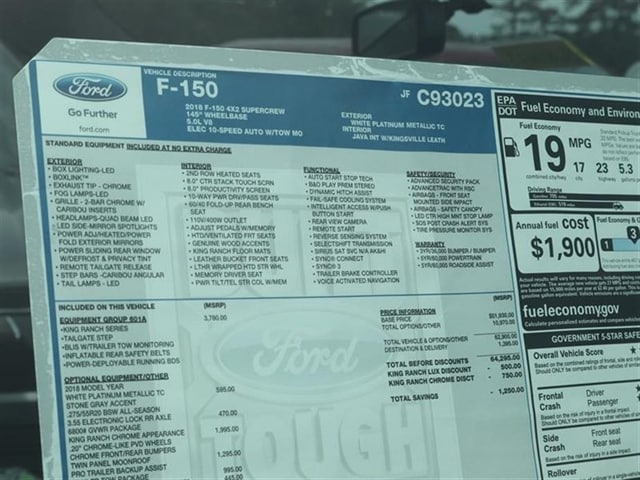 2018 F-150 SuperCrew Cab, Pickup #8W1C3023 - photo 15