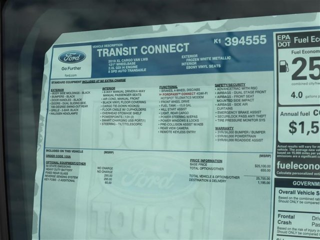 2019 Transit Connect 4x2,  Empty Cargo Van #9S7E4555 - photo 15