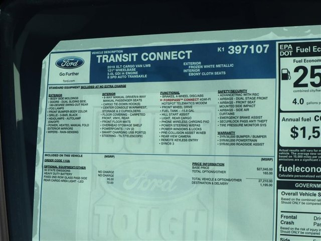 2019 Transit Connect 4x2,  Empty Cargo Van #9S7F7107 - photo 15