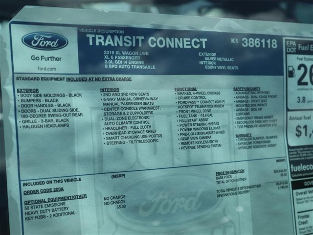 2019 Transit Connect 4x2,  Passenger Wagon #9S9E6118 - photo 15