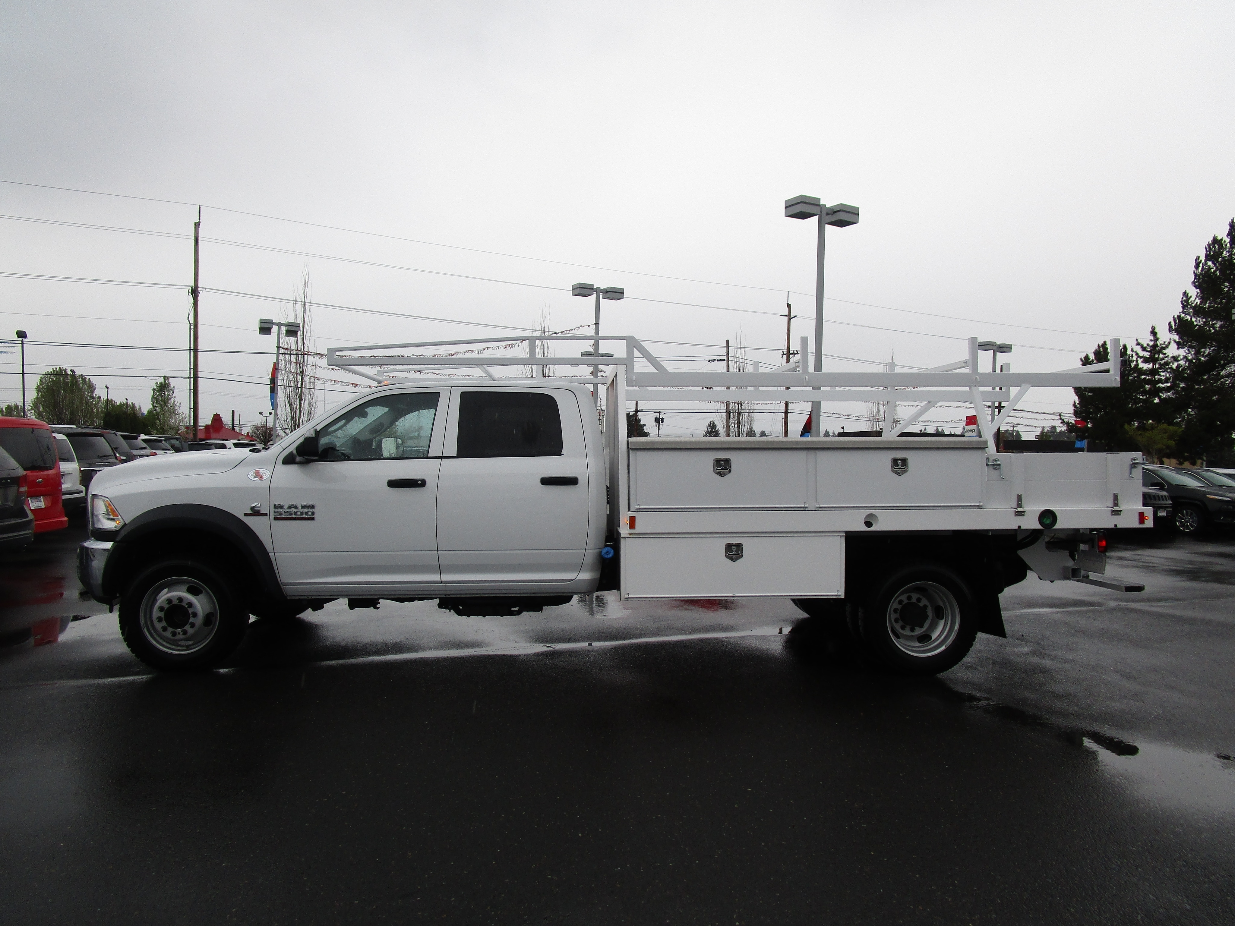 2017 Ram 5500 Crew Cab DRW 4x4,  Contractor Body #077734 - photo 8