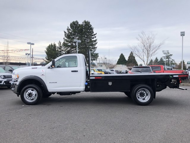 2019 Ram 5500 Regular Cab DRW 4x4, Harbor Black Boss Platform Body #097521 - photo 5