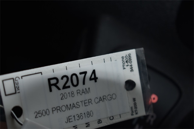 2018 ProMaster 2500 High Roof FWD,  Empty Cargo Van #R2074 - photo 24