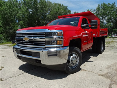 2017 Silverado 3500 Regular Cab DRW 4x4, Monroe MTE-Zee Dump Dump Body #64558 - photo 1