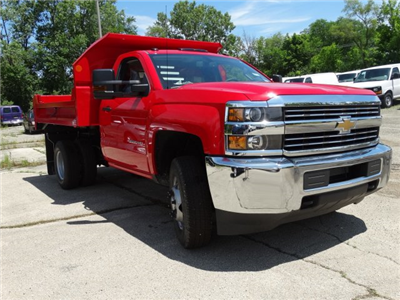 2017 Silverado 3500 Regular Cab DRW 4x4, Monroe MTE-Zee Dump Dump Body #64558 - photo 5