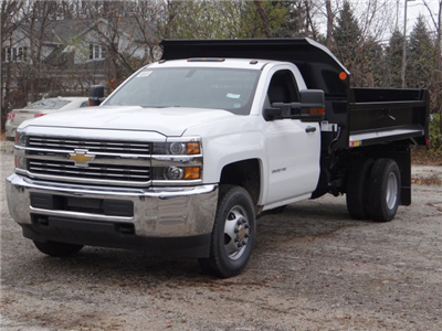 2017 Silverado 3500 Regular Cab DRW 4x4,  Monroe MTE-Zee Dump Body #64764 - photo 1
