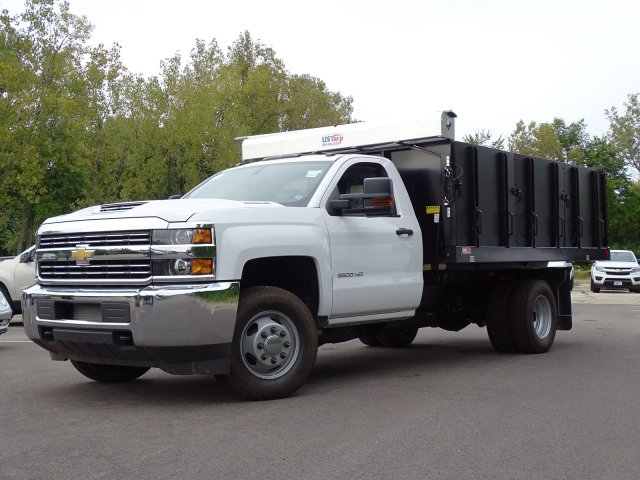 2018 Silverado 3500 Regular Cab DRW 4x4,  Monroe Poly Landscape Dump #65681 - photo 1