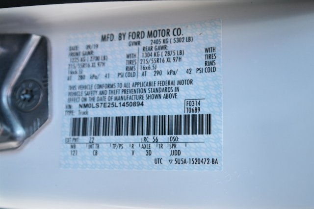2020 Ford Transit Connect FWD, Empty Cargo Van #00061212 - photo 25
