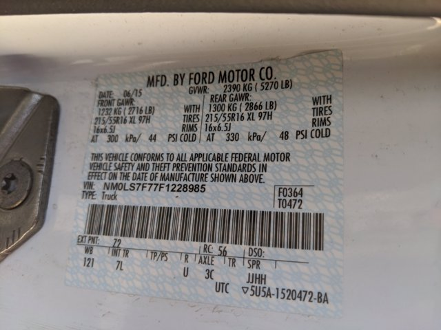 2015 Ford Transit Connect FWD, Empty Cargo Van #0062178A - photo 21