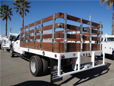 2017 F-450 Super Cab DRW, Scelzi Western Flatbed Stake Bed #FH6292 - photo 2