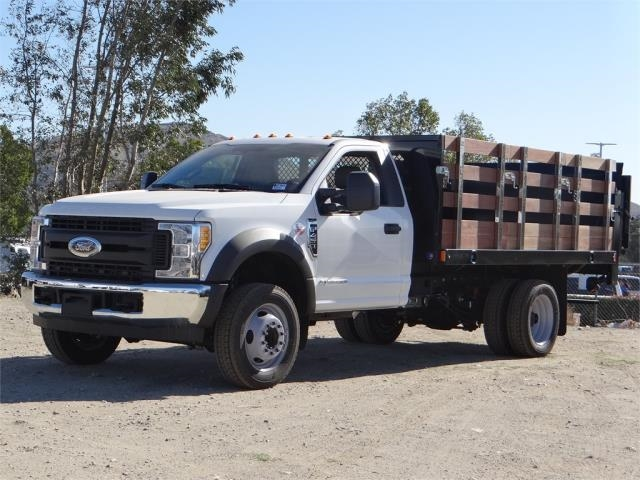 2017 F-450 Regular Cab DRW, Harbor Black Boss Stakebed Stake Bed #FH6299 - photo 1