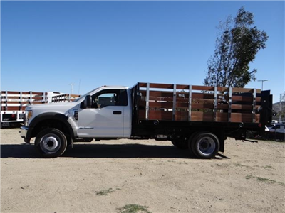 2017 F-450 Regular Cab DRW, Harbor Black Boss Stakebed Stake Bed #FH6299 - photo 3