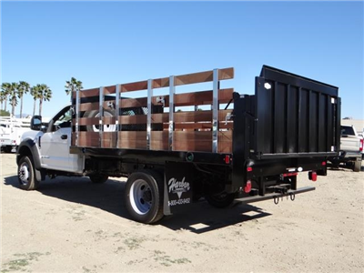 2017 F-450 Regular Cab DRW, Harbor Black Boss Stakebed Stake Bed #FH6299 - photo 2