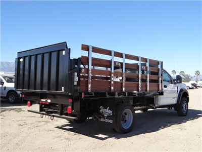 2017 F-450 Regular Cab DRW, Harbor Black Boss Stakebed Stake Bed #FH6299 - photo 4