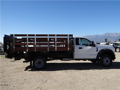 2017 F-450 Regular Cab DRW, Harbor Black Boss Stakebed Stake Bed #FH6299 - photo 5