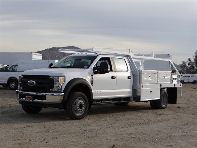 2017 F-550 Crew Cab DRW, Scelzi Contractor Flatbed Contractor Body #FH6316 - photo 1