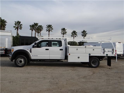 2017 F-550 Crew Cab DRW, Scelzi Contractor Flatbed Contractor Body #FH6316 - photo 3