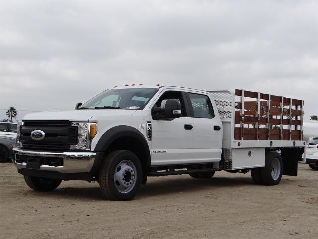2017 F-450 Crew Cab DRW, Scelzi Western Flatbed Stake Bed #FH6370 - photo 1