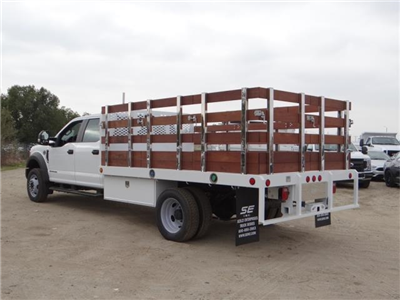 2017 F-450 Crew Cab DRW, Scelzi Western Flatbed Stake Bed #FH6370 - photo 2