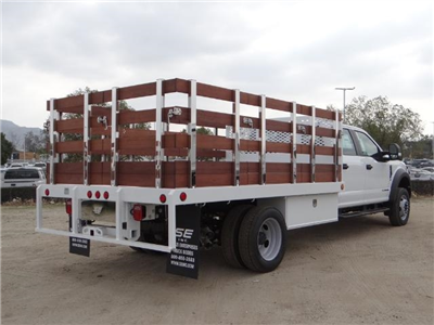 2017 F-450 Crew Cab DRW, Scelzi Western Flatbed Stake Bed #FH6370 - photo 4