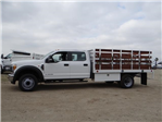 2017 F-450 Crew Cab DRW, Scelzi Western Flatbed Stake Bed #FH6370 - photo 3