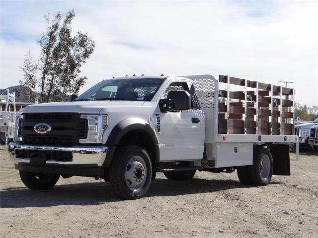2018 F-450 Regular Cab DRW, Scelzi Western Flatbed Stake Bed #FJ2130 - photo 1