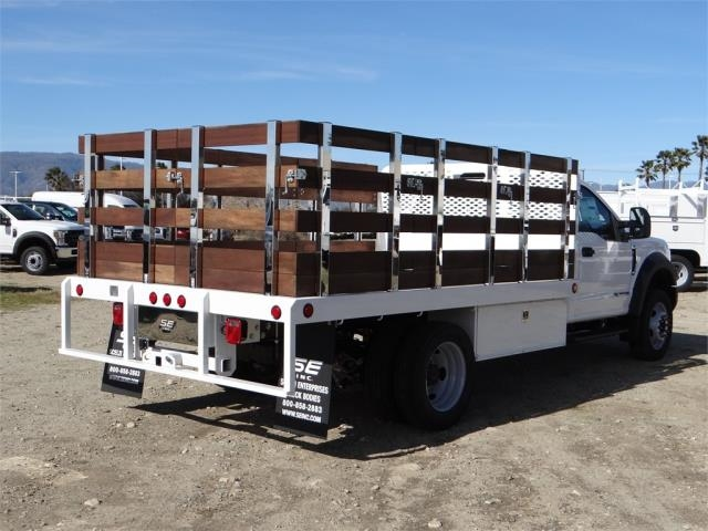 2018 F-450 Regular Cab DRW 4x2,  Scelzi Western Flatbed Stake Bed #FJ2130 - photo 4