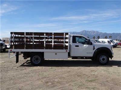2018 F-450 Regular Cab DRW 4x2,  Scelzi Western Flatbed Stake Bed #FJ2130 - photo 5