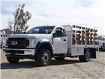 2018 F-450 Regular Cab DRW 4x2,  Scelzi Western Flatbed Stake Bed #FJ2130 - photo 1