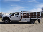 2018 F-450 Regular Cab DRW 4x2,  Scelzi Western Flatbed Stake Bed #FJ2130 - photo 3