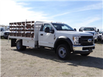 2018 F-450 Regular Cab DRW 4x2,  Scelzi Western Flatbed Stake Bed #FJ2130 - photo 6