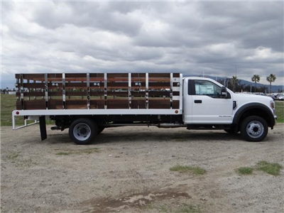 2018 F-550 Regular Cab DRW 4x2,  Scelzi Western Flatbed Stake Bed #FJ2272 - photo 5
