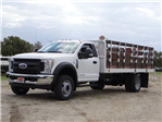 2018 F-550 Regular Cab DRW,  Scelzi Stake Bed #FJ2272 - photo 1