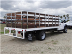 2018 F-550 Regular Cab DRW 4x2,  Scelzi Western Flatbed Stake Bed #FJ2272 - photo 4