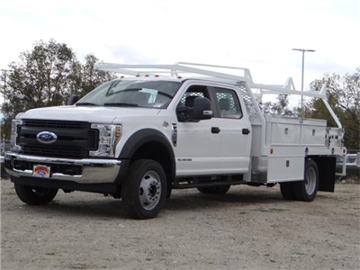 2018 F-550 Crew Cab DRW, Scelzi Contractor Flatbed Contractor Body #FJ2339 - photo 1