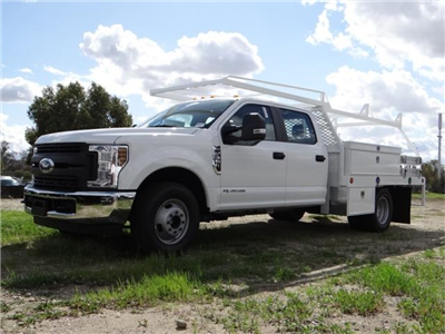 2018 F-350 Crew Cab DRW 4x2,  Scelzi Contractor Flatbed Contractor Body #FJ2354 - photo 1
