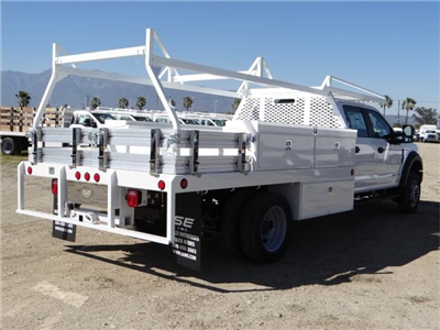 2018 F-550 Crew Cab DRW 4x2,  Scelzi Contractor Flatbed Contractor Body #FJ2469 - photo 4