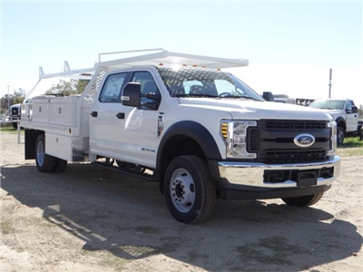 2018 F-550 Crew Cab DRW 4x2,  Scelzi Contractor Flatbed Contractor Body #FJ2469 - photo 6