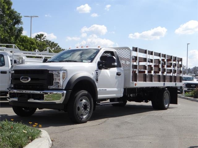 2018 F-550 Regular Cab DRW 4x2,  Scelzi Western Flatbed Stake Bed #FJ2479 - photo 1
