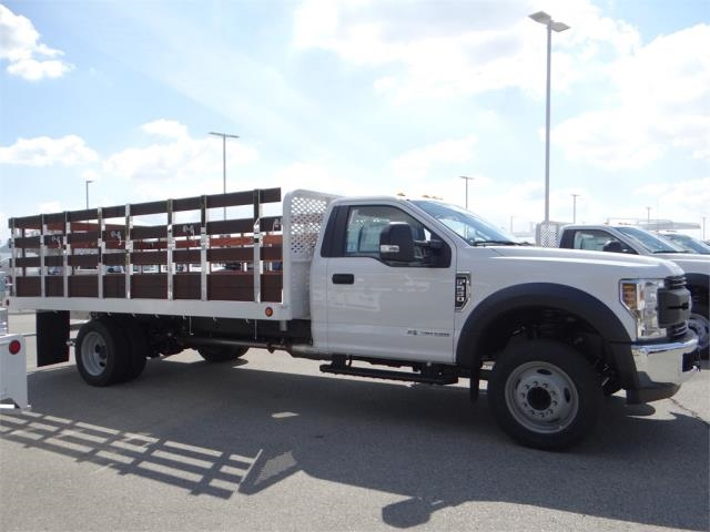 2018 F-550 Regular Cab DRW 4x2,  Scelzi Western Flatbed Stake Bed #FJ2479 - photo 5