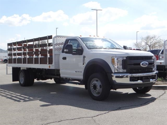 2018 F-550 Regular Cab DRW 4x2,  Scelzi Western Flatbed Stake Bed #FJ2479 - photo 6