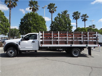 2018 F-550 Regular Cab DRW 4x2,  Scelzi Western Flatbed Stake Bed #FJ2479 - photo 3