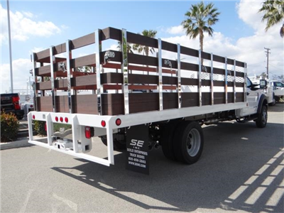 2018 F-550 Regular Cab DRW 4x2,  Scelzi Western Flatbed Stake Bed #FJ2479 - photo 4